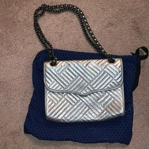 Rebecca Minkoff Quilted Affair Bag Silver